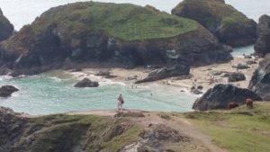 Kynance-Cove Blick auf den Strand