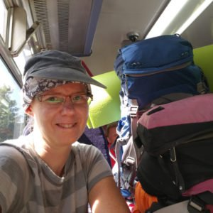 im Zug nach St Ives