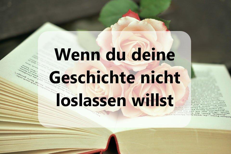 rosen im Buch - Geschichte loslassen