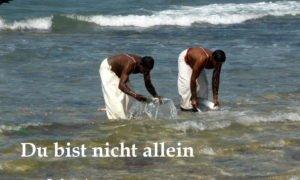 waschen am Meer du bist nicht allein