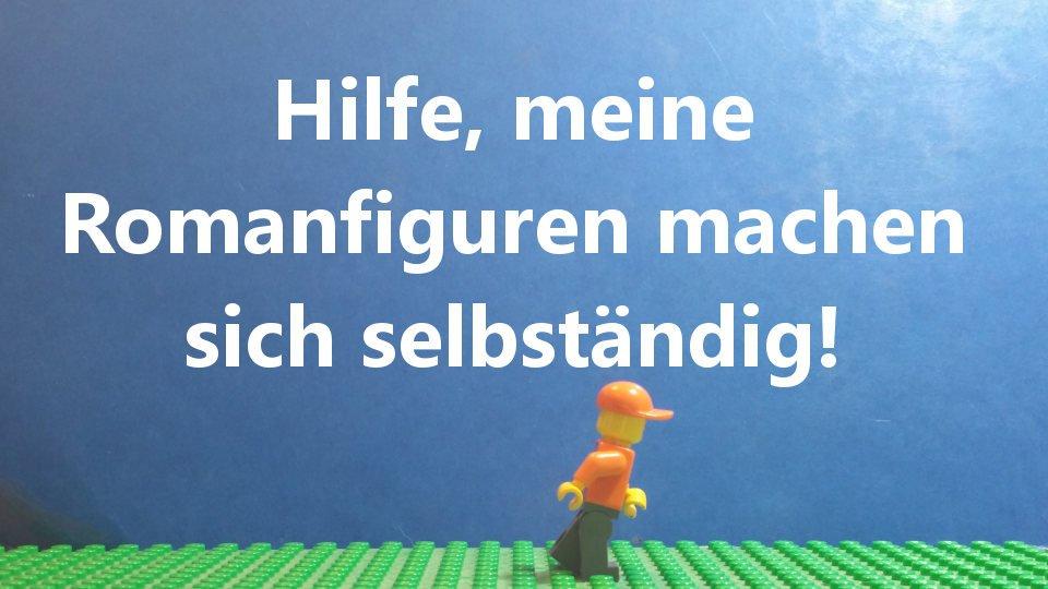 Legofigur - Romanfiguren machen sich selbständig