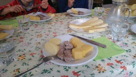 Abendessen Malga Antola
