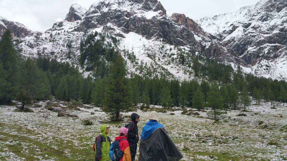 Karnischer Höhenweg Abstieg ins Tal