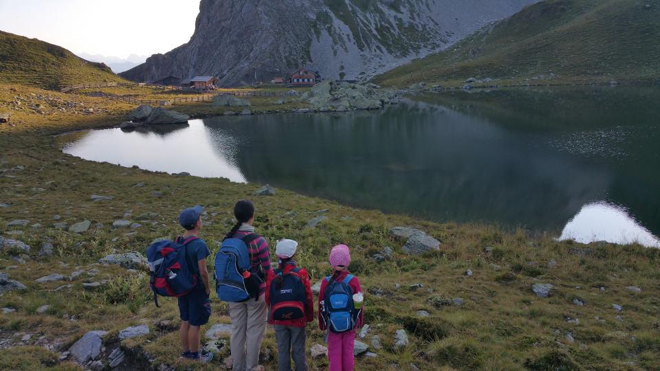 Blick auf Obstansersee-Hütte