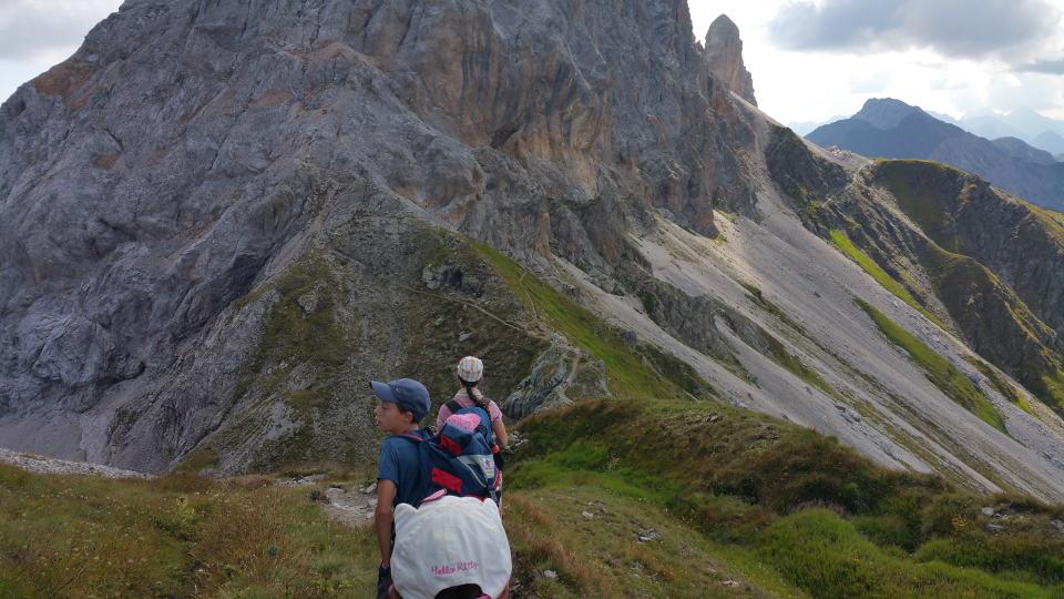 Blick aufs Geröllfeld Karnischer Höhenweg