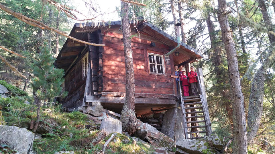 Kleine Hütte bei der Leckfeldalm