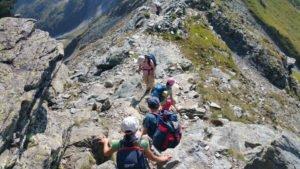 Kletterpartie Pfannspitzgipfel runter