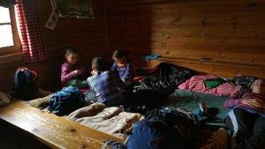 Matratzenlager der Porzehütte
