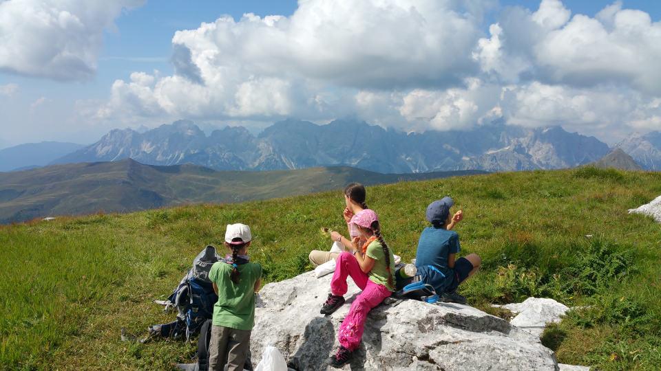 Pause auf dem Karnischen Höhenweg