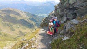 Schwierige Stelle Karnischer Höhenweg