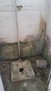 Toilette Kriegsruine