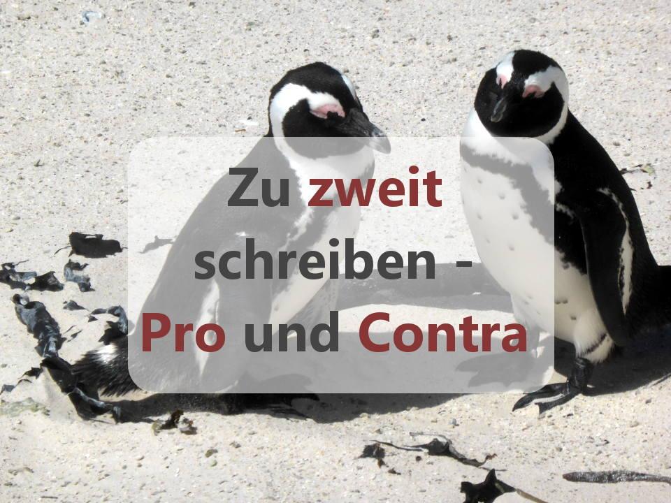Pinguine zu zweit schreiben pro und contra
