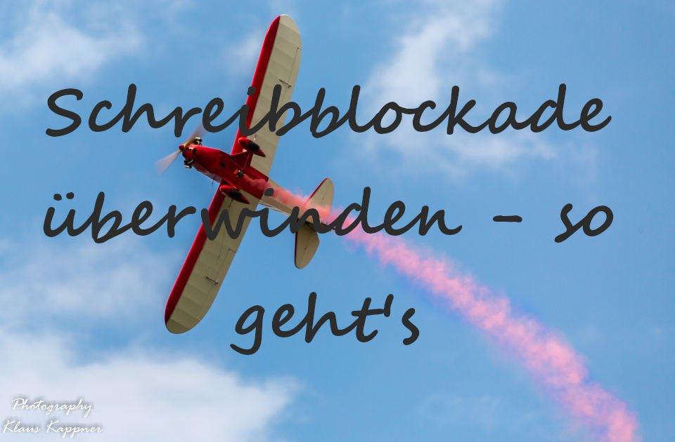 Schreibblockade überwinden - Flugzeug
