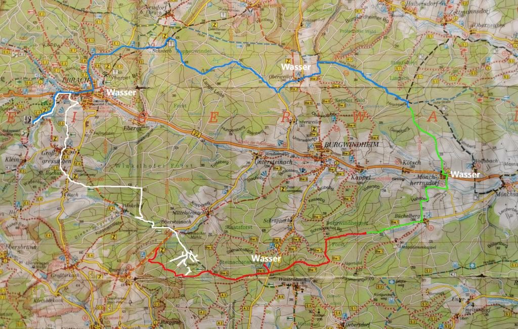 Karte Steigerwald