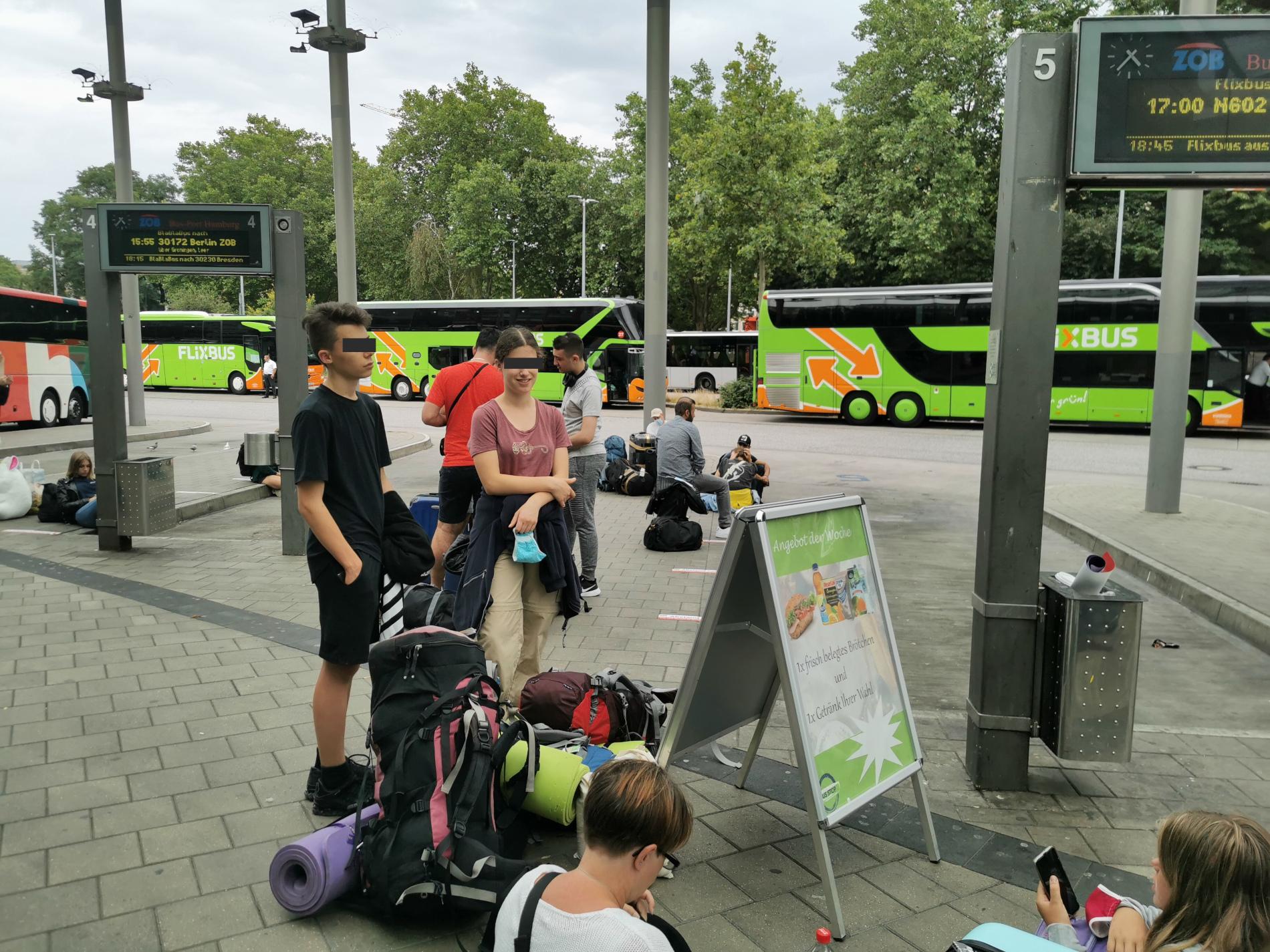 Flixbushaltestelle in Hamburg