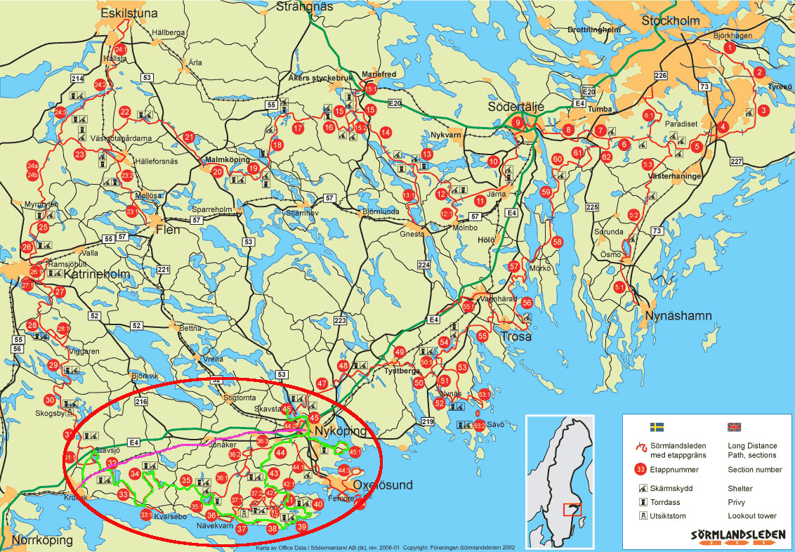 Sörmlandsleden Karte