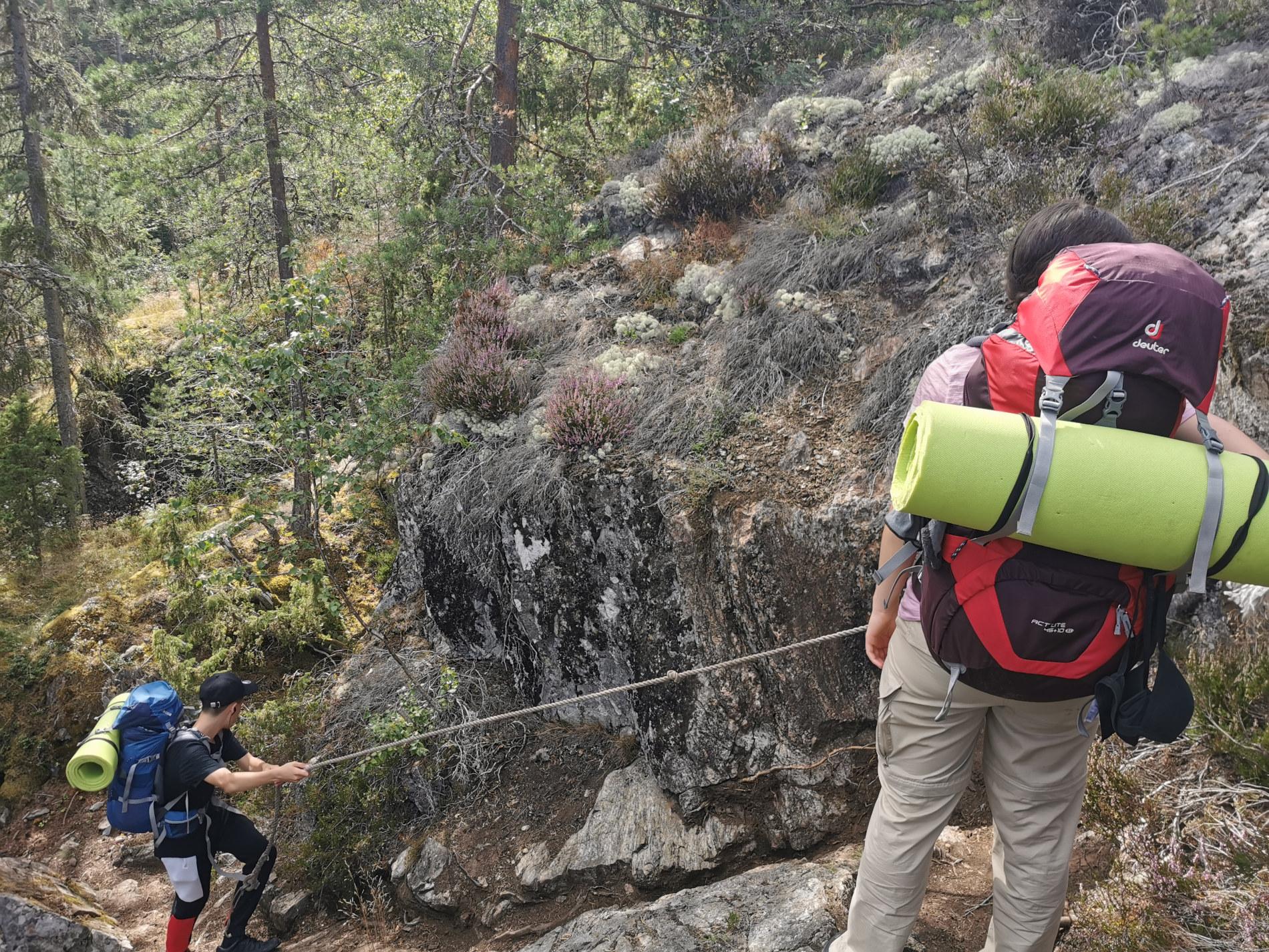 Sörmlandsleden Klettern mit Seil