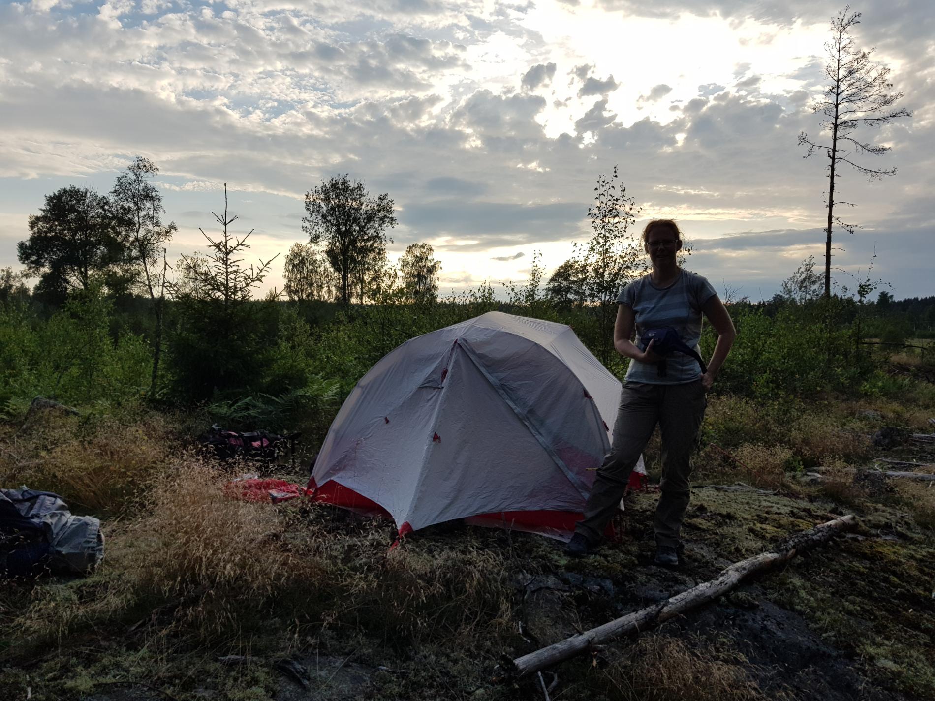 erstes Zeltlager auf dem Sörmlandsleden